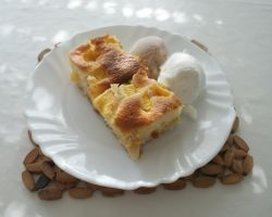 cake with nectarines by Her-Redness