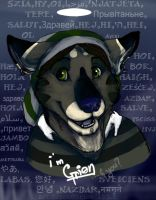Say hello-badge by Grion
