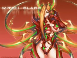 the red witchblade by wolfs15