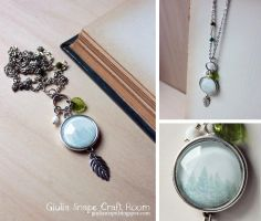 Green wood necklace by GiuliaSnape