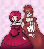 Ash and Grell DRESSES by Prepare-Your-Bladder