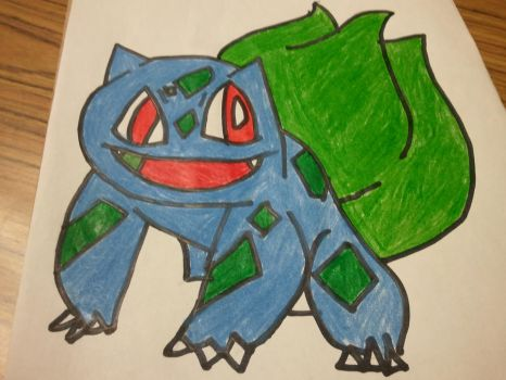 Bulbasaur Drawing by Megamanx3able