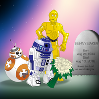 Kenny Baker Memorial by FantasyFlixArt
