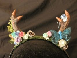 antlers - blue butterfly by Tariray
