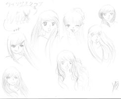 Winx Club Anime Sketches by oODemon-chanOo