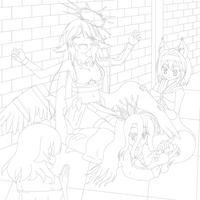 LRRW 2 - No Game No Laugh (Lineart) by ExaSpirit