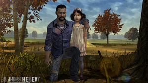 The Walking Dead - Lee and Clementine by JhonyHebert