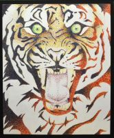Pointillism Tiger by AshesDust