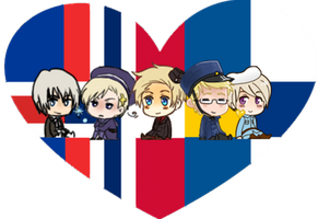 Nordic Shimeji Heart by LadyAxis