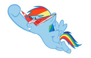 Rainbow Dash with Kamina glasses by SkiddleZIzKewl