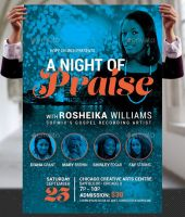 Praise Concert Flyer and Poster Template by Godserv