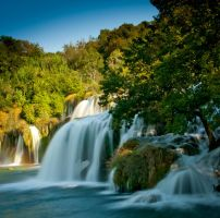krka waterfalls by burys