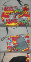 RetroPrint Avengers Marvel Messenger Bag by ShopOfMinerva