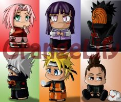 NaRuTo Bookmarks P.1 by OrangeLily