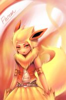 Pokemon Gijinka: Flareon by Sukesha-Ray
