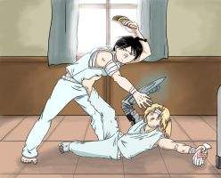 Hospital fight by Tenshi-Inverse