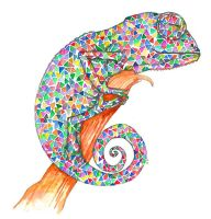 Colorful dreams 1- Chameleon by asimplestory