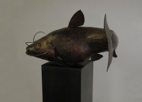 Catfish Sculpture by jeremymaronpot