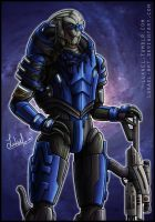 Mass Effect: Garrus Vakarian by Lukael-Art