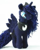 First Luna - Knitted Plush by SparkAbsurd