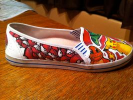 Pokemon Side of Shoes by crummywater