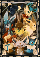 BTAD eeveelutions by SpaceSmilodon