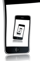 iPhone on iPhone by mark-flammable