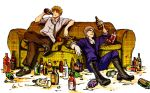 Professional drunks by beanclam
