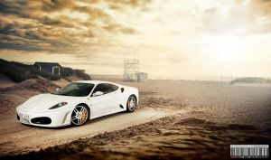 Ferrari F430 at the beach by dejz0r