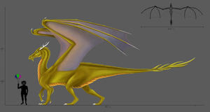 Gold Dragon concept by Milreem