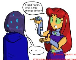 Starfire is curious by BrokenTeapot