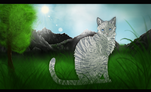 Jayfeather on his way to the mountains by Marry-An