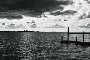 Sky and Water - BW by D-BH