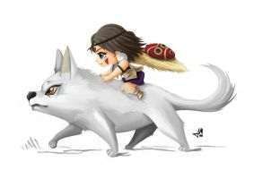 Princess Mononoke by saulom