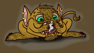 Greed goblin by Wolfsheepsoup
