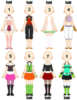 Adoptable Outfits Set 2 - Closed by Queen-of-Color