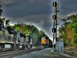 Trains in Passing -HDR- by tripptaylor
