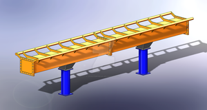Solidworks - Dive Machine Coaster Track v.2 by Coasterfreak