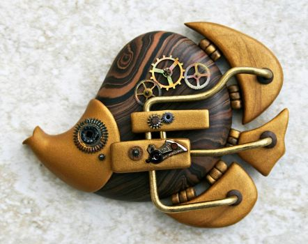 Steampunk Butterflyfish by FauxHead