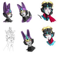 Windblade and Blitzangel by Ty-Chou