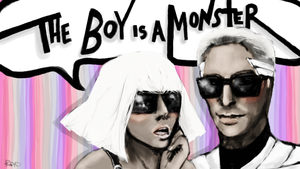 the boy is a monster by radishface