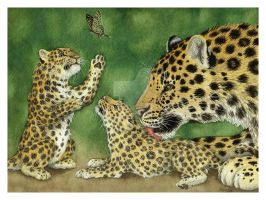 Amur Leopards - Contest entry by The-Blackwolf