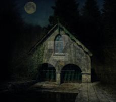 Moonlight over the Boathouse by Flash-and-Flair
