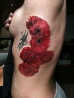 Wedding Flowers Tattoo by superchickenn123