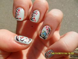 winter berries nail art by elenaeris