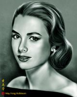 Grace Kelly - speed painting by MayFong