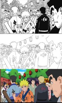 Work Flow For Manga to Anime Naruto by Nohealsfoyou