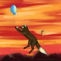 Losing my balloon by PawesomeSauce