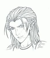 DA:O Zevran Outlines by LittleBreeze
