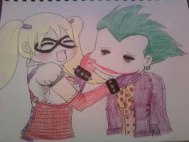 Harley and Joker by MrBubbles24